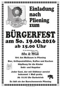 Plakat Bürgerfest